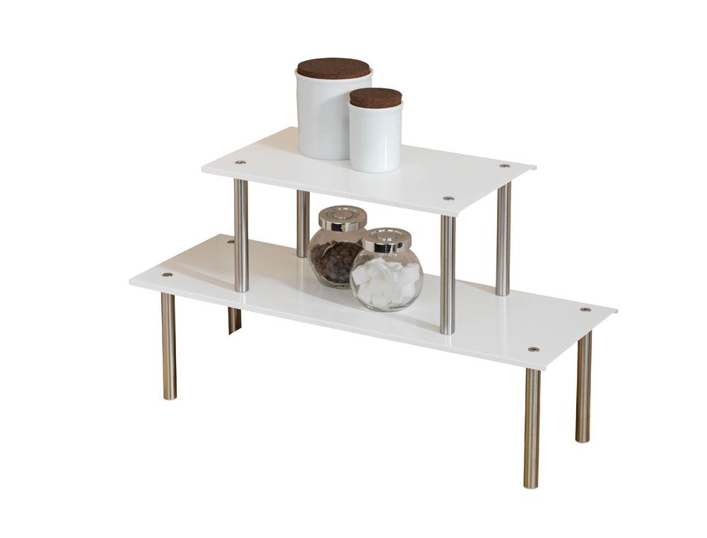 k chenregal original wenko carnival regal ablage k che 2 ebenen wei neu ebay. Black Bedroom Furniture Sets. Home Design Ideas