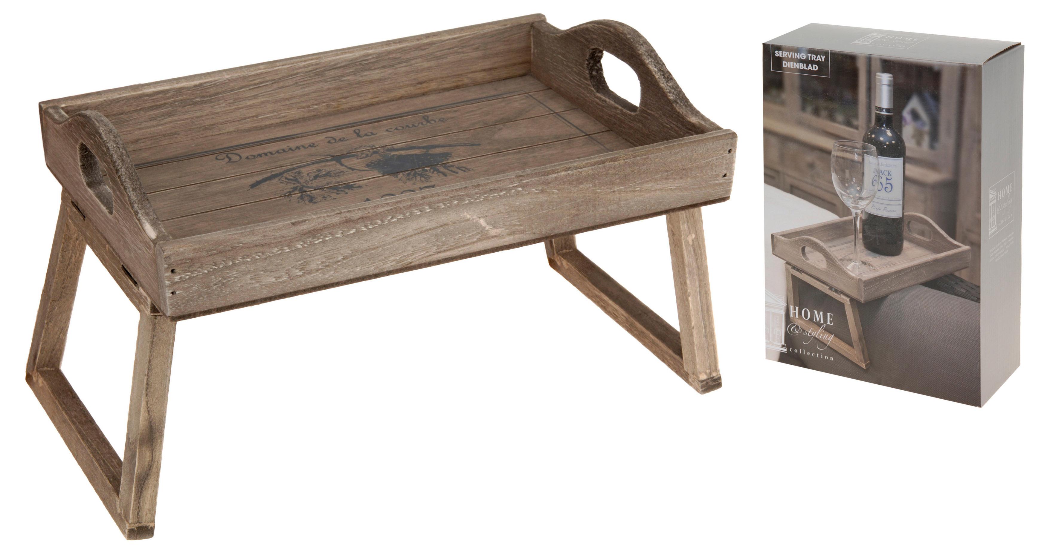 holztablett sofa bett im landhausstil sofatablett beistelltisch couchtablett ebay. Black Bedroom Furniture Sets. Home Design Ideas