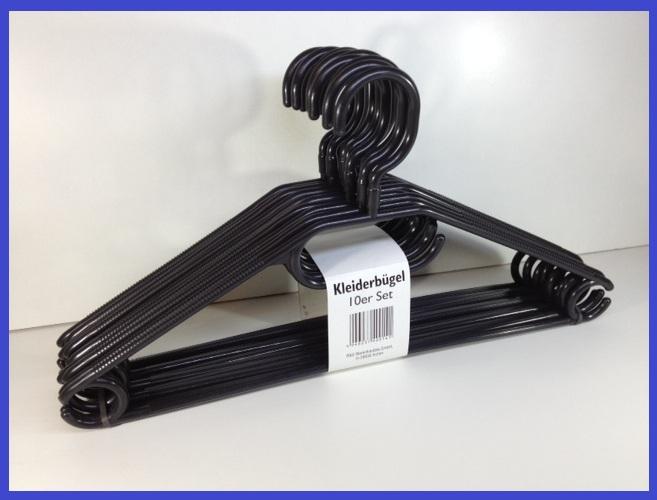 kleiderb gel kunststoff schwarz drehbar mit antirutschrillen krawattenhalter neu ebay. Black Bedroom Furniture Sets. Home Design Ideas